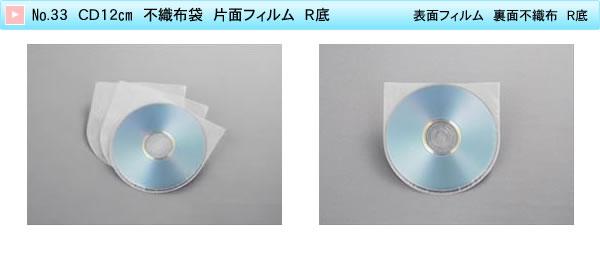 No.33 CD12cm 不織布袋 片面フィルム R底